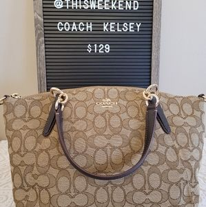 Coach Kelsey Signature Jacquard Small Tote